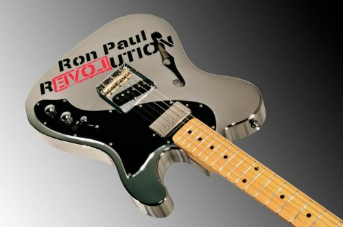 Ron Paul Custom Guitar from AlumiSonic Aluminum Guitars