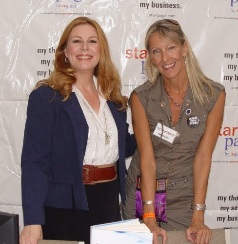 Sharlene with Katherine Albrecht, author of Spychips.