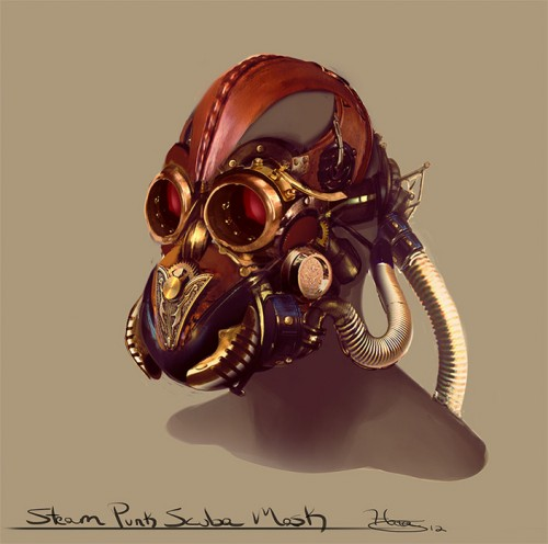 Steampunk mask by artist Isaiah Sherman