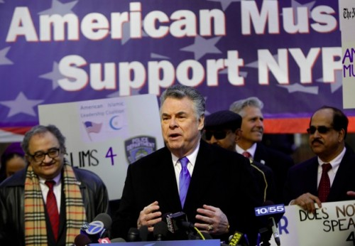 Muslims Rally in Support of NYPD and U.S. Rep. Peter King, R-NY.