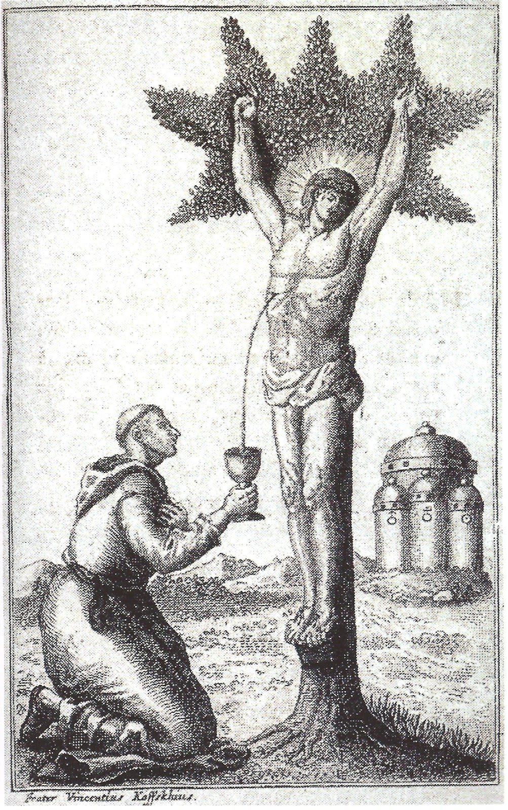 Sacrifice of the lamb: The initiate must cut off his own head with his right hand and hold it in his left.
