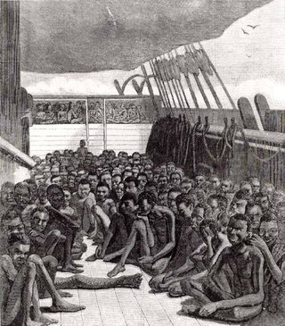 Today's slave trade is much improved. We each get our OWN BOAT!