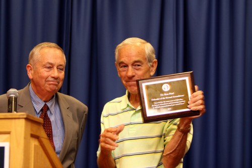Larry Pratt (L) with Ron Paul