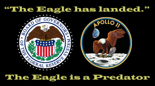 The Eagle has landed on top of the American People.