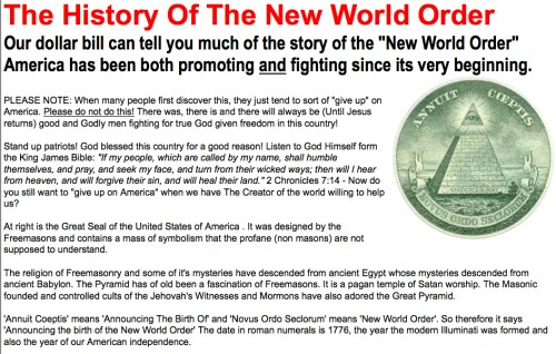 Fed Up with BS: History of the New World Order