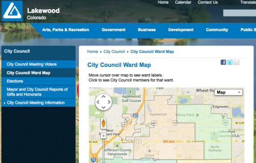 "Lakewood Muncipal Corporation ""Ward"" Map"