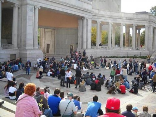Occupy Denver Group Meets at Civic Center