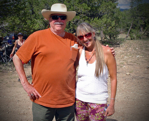 Sharlene with UFO Researcher Ron Regehr at PRF Camping Trip 2013
