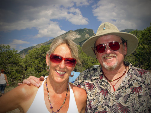 Sharlene with Our Strange Planet host, Christopher O'Brien at PRF camping trip 2013