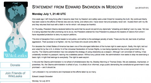 Snowden Statement July 1 2013