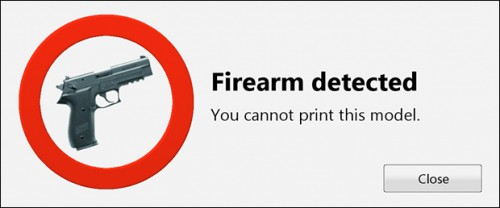 "Create it REAL announced they had created ""a smart software which recognizes if the user wants to 3D print a firearm and can hereby prevent printing of guns."""