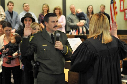 Sheriff John D'Agostini Taking Oath of Office