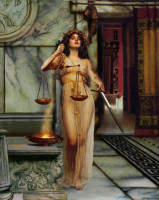 Justitia, aka Themis, by artist Howard David Johnson