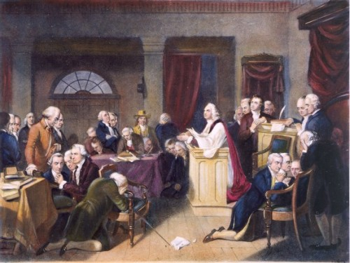 The first thing the founders did was pray!