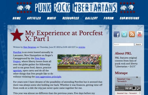 Punk Rock Libertarians at Porc Fest