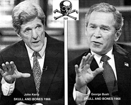 False Left-Right Paradigm: John Kerry and George Bush, members of secret Skull & Bones
