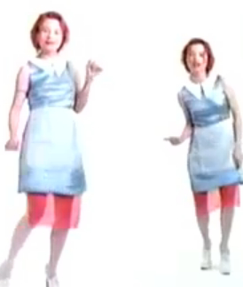 Tori Amos, Crucify: Twin Maids Wearing Red, White, and Blue?