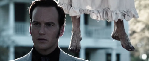 Scene from The Conjuring depicting manifested dead entity.