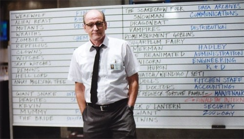 The Cabin in the Woods: Sitterson with Whiteboard and Monsters