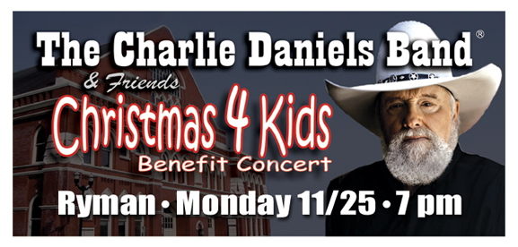 Charlie Daniels Headlines Concert to Benefit Children