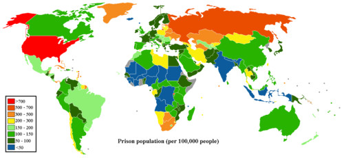 Prisoner Populations around the planet: 'Refuge failed me; no man cared for my soul.' Psalm 142:4