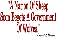 A nation of sheep soon begets a government of wolves quote.