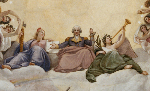 "Apotheosis of George Washington: Two girls and one man - who is ""He?"""