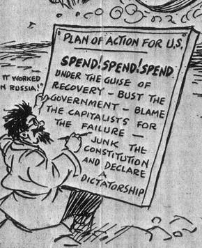 Spend Spend Spend; then, junk the constitution and declare a dictatorship!