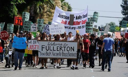 Fullerton people protest Kelly Thomas verdict
