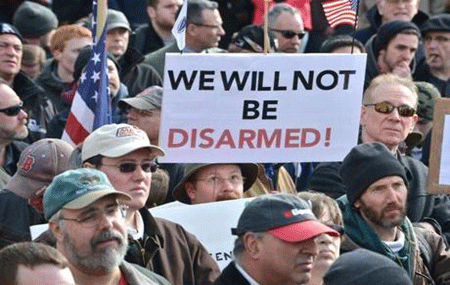 "Amerikans wake up: ""We will not be disarmed."""