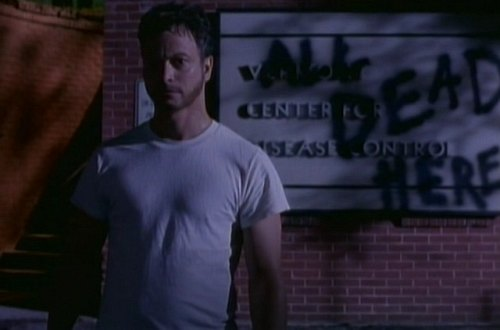 Gary Sinese at The Centers for Disease Control in Steven King's The Stand (1994): All Dead Here Grafitti