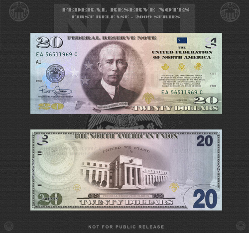 Edward Mandell House image on proposed North American Note