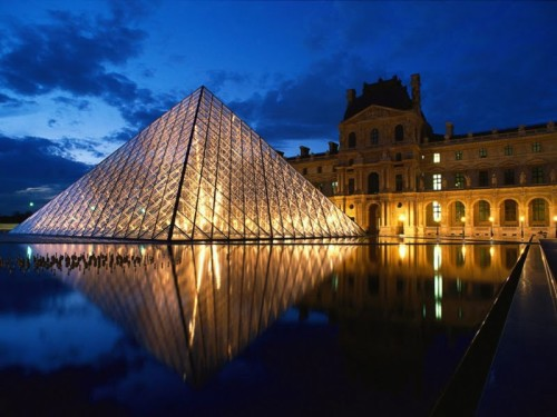 Cruise kills the Omega under I.M. Pei's pyramid at the Louvre Museum, Paris, France