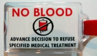 Some folks are not too keen on getting blood transfusions.