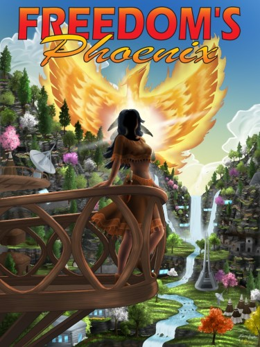 Freedom's Phoenix Magazine Cover Artwork by Athena Tivnan