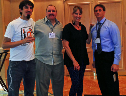 Sharlene with John Bush (L), Paul Rosenberg, and Marc Stevens