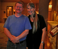 Sharlene with Iron Web author, Larken Rose