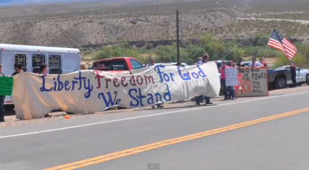 Western Ranchers Rally in Support of Nevadan Cliven Bundy and Family