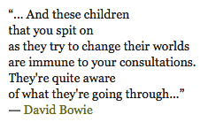 Changes by David Bowie, Quote