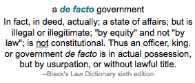 De Facto Definition