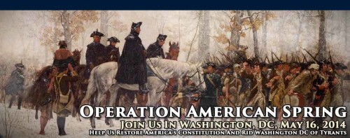 Operation American Spring calling for all Americans to rally in support of the republic.