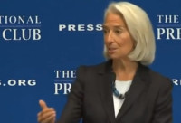 "Christine Lagarde: ""I'm going to test your numerology skills by asking you to think about the magic seven."""