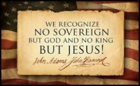 No Sovereign but God No King but Jesus!