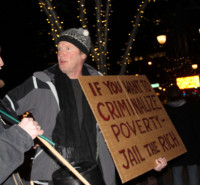 "Occupy Denver at The Tattered Cover: ""If you want to criminalize poverty, jail the rich!"""