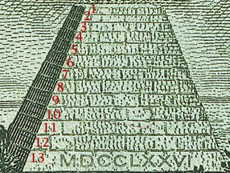 Symbolism of Pyramid on the One Dollar: Thirteen places in Egypt claimed to be the burial place of Osiris.