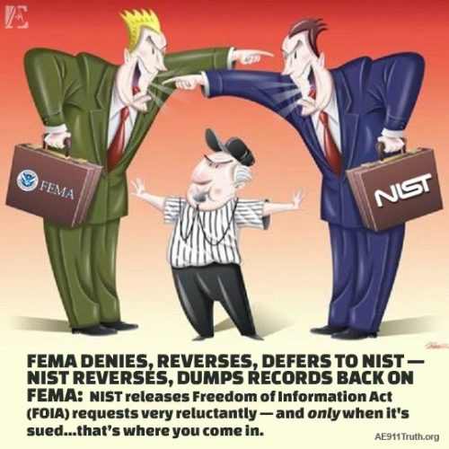AE911Truth: FEMA Denies, Reverses, Defers to NIST!