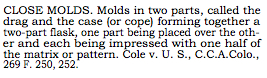 Close Molds, Black's Law Dictionary