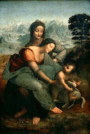 Leonardo DaVinci Two Mothers with Christ Child