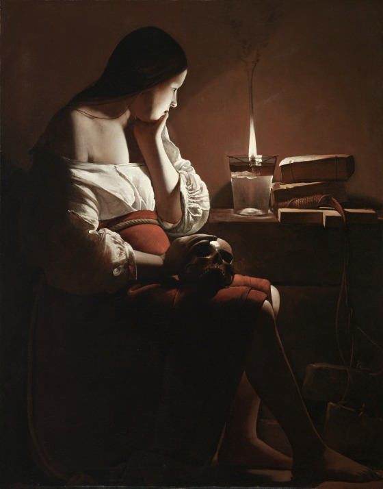 The Magdalen with the Smoking Flame Georges de la Tour (France, Vic-sur-Seille, 1593-1652)