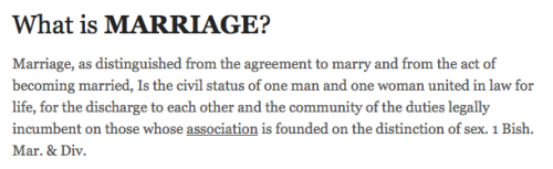 Marriage Defined, Black's Law, 2nd Ed.